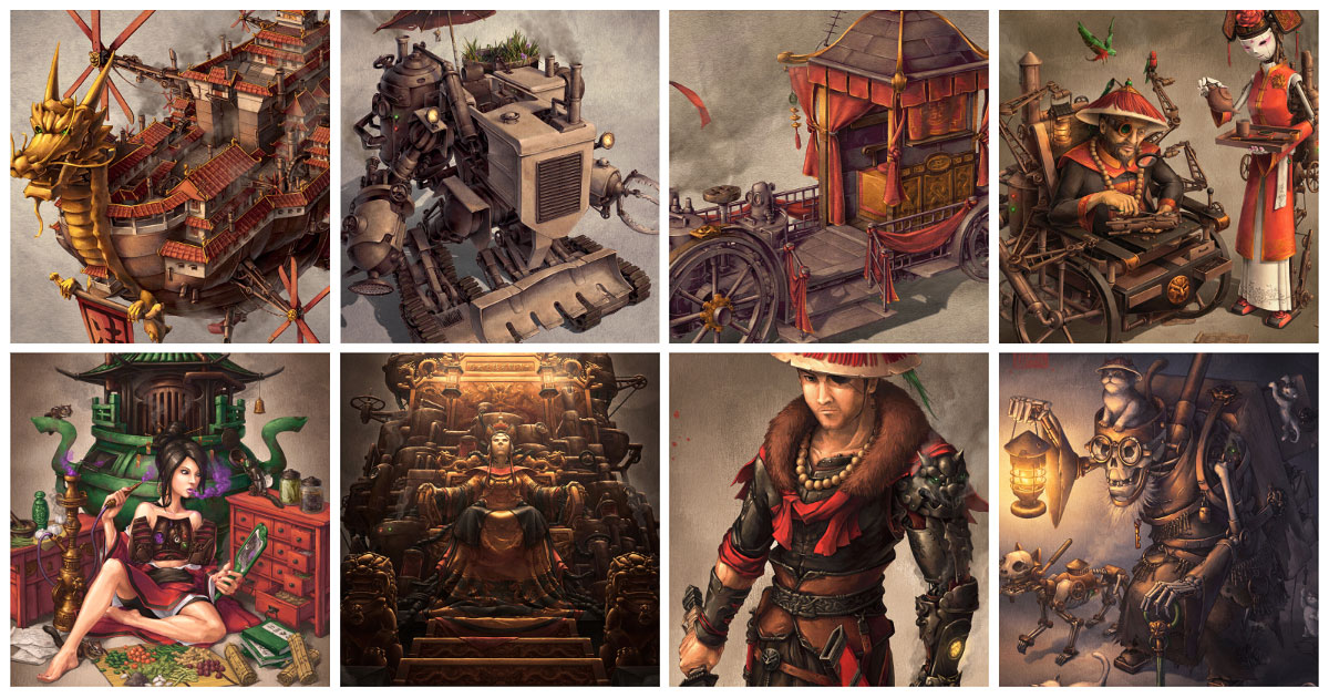 James Ng Art's steampunk illustration, scifi character design and fantasy concept art gallery.